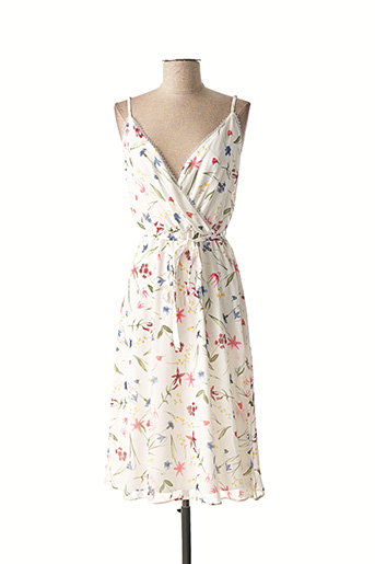 Robe mi-longue blanc ADOREE pour femme