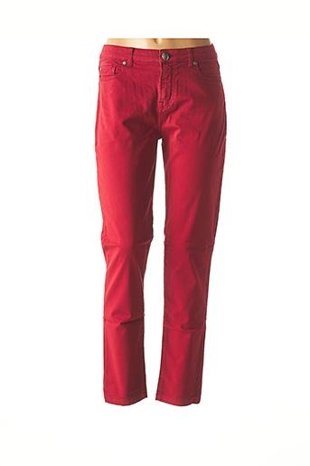 Pantalon casual rouge MENSI COLLEZIONE pour femme