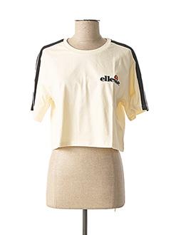 T-shirt manches courtes beige ELLESSE pour femme