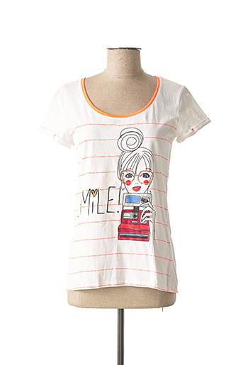 T-shirt manches courtes blanc CACHE CACHE pour femme