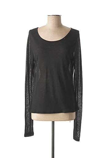 T-shirt manches longues noir CO2 pour femme