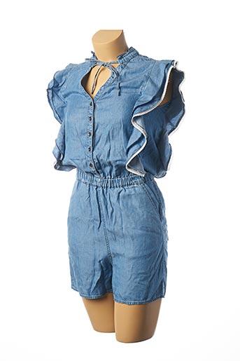 Combishort bleu KAPORAL pour femme