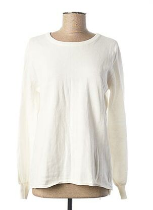 Pull col rond blanc TIFFOSI pour femme