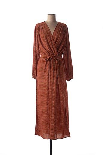 Robe mi-longue orange CHRISTY pour femme