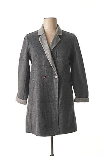 Manteau long gris FREDA pour femme