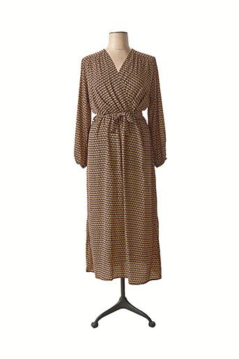 Robe mi-longue noir CHRISTY pour femme