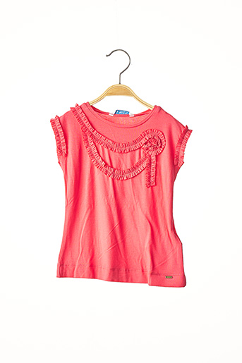 T-shirt manches courtes rose MAYORAL pour fille