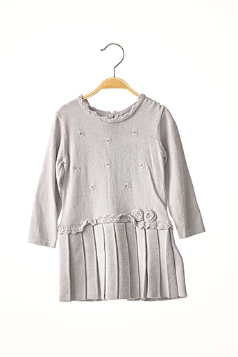 Robe pull gris MAYORAL pour fille