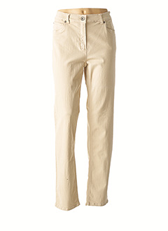 Pantalon casual beige ANNA MONTANA pour femme