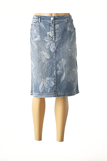 Jupe mi-longue bleu GERRY WEBER pour femme