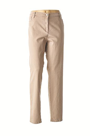 Pantalon casual beige BRAX pour femme