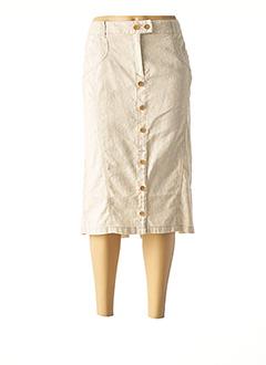 Jupe mi-longue beige DIANA GALLESI pour femme