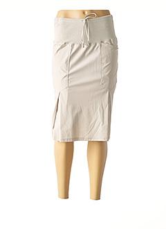 Jupe mi-longue gris CREA CONCEPT pour femme