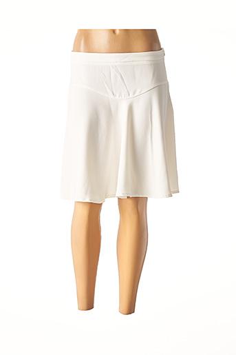 Jupe courte blanc GLÜEN pour femme