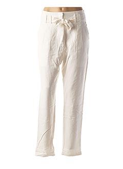 Pantalon casual blanc LOLA ESPELETA pour femme