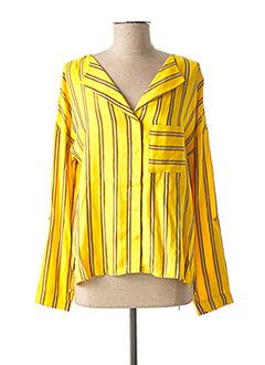 Blouse manches longues jaune VILA pour femme