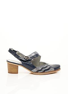Sandales/Nu pieds bleu UN TOUR EN VILLE pour femme