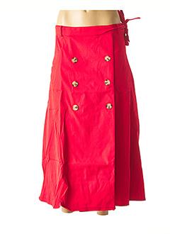 Jupe longue rouge ALYSSA pour femme