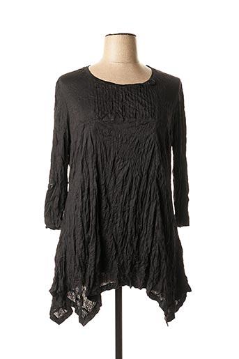T-shirt manches longues noir BE THE QUEEN pour femme