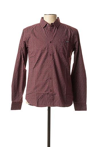 Chemise manches longues violet FRESH BRAND pour homme