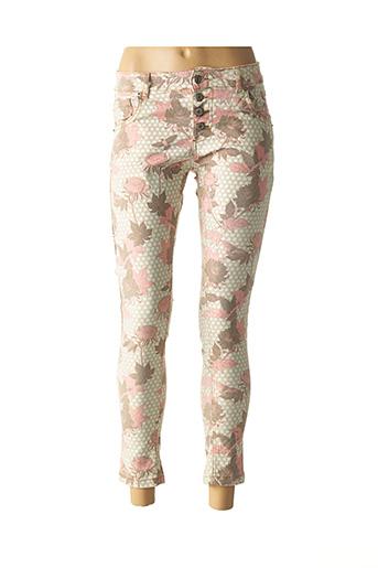 Pantalon casual vert BISCOTE pour femme