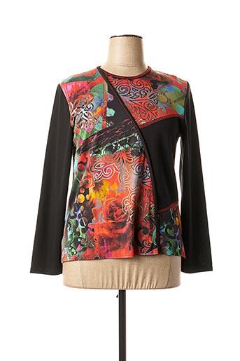 T-shirt manches longues noir GEVANA pour femme