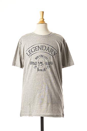 T-shirt manches courtes gris LMTD pour enfant