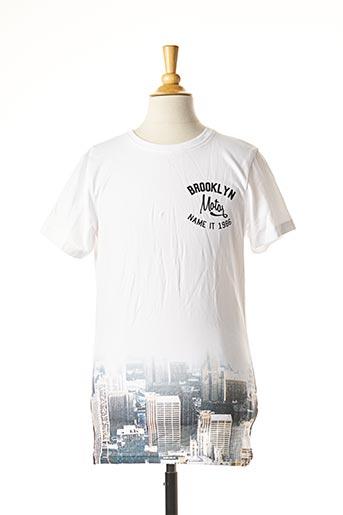 T-shirt manches courtes blanc NAME IT pour garçon