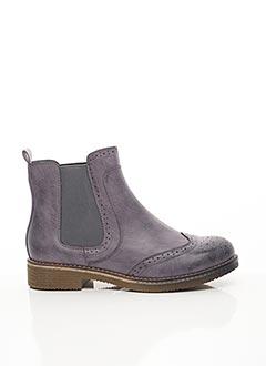 Bottines/Boots violet ERYNN pour femme
