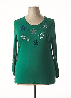 T-shirt manches longues vert HAJO pour femme