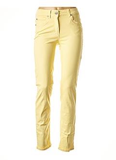 Pantalon casual jaune ANNA MONTANA pour femme