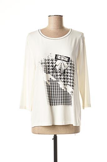 T-shirt manches longues blanc FRANK WALDER pour femme