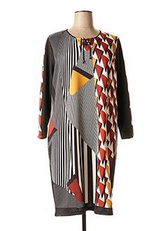 Robe mi-longue noir GUY DUBOUIS pour femme