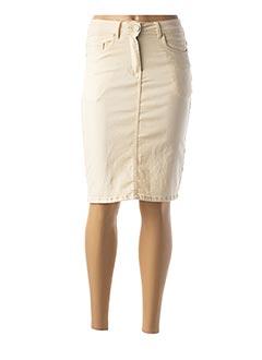 Jupe mi-longue beige GRIFFON pour femme