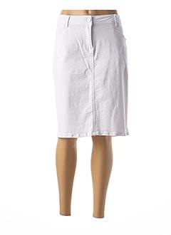 Jupe mi-longue blanc GRIFFON pour femme