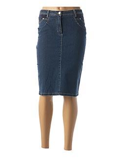 Jupe mi-longue bleu GRIFFON pour femme