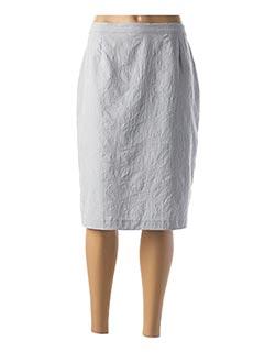 Jupe mi-longue gris GRIFFON pour femme