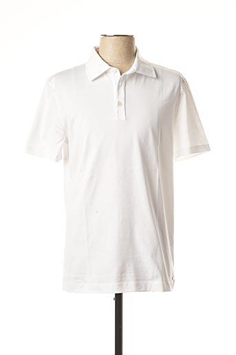 Polo manches courtes blanc STRELLSON pour homme