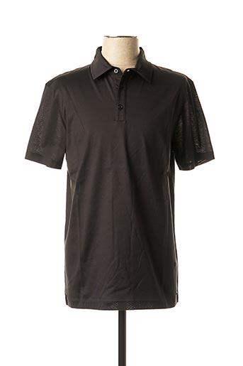 Polo manches courtes noir STRELLSON pour homme
