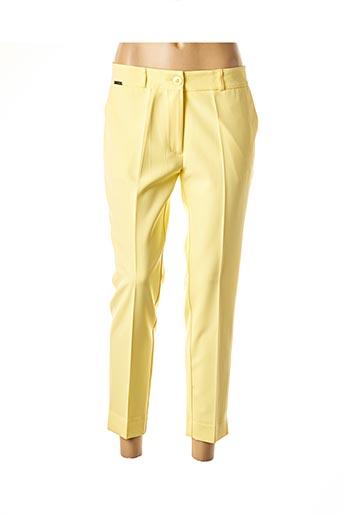 Pantalon 7/8 jaune CRISTINA BARROS pour femme