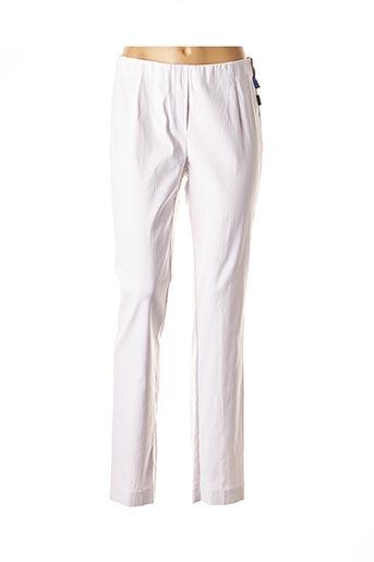 Pantalon casual blanc ADELINA BY SCHEITER pour femme