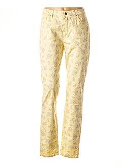 Pantalon casual jaune LCDN pour femme