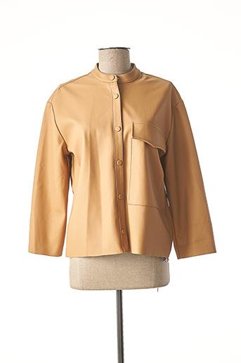 Veste simili cuir beige #RED/LEGEND pour femme