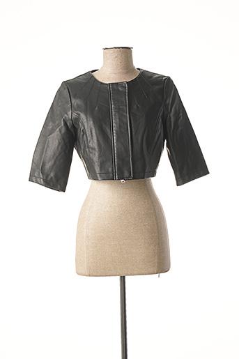 Veste simili cuir noir VERO MODA pour femme