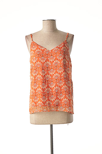 Top orange VERO MODA pour femme