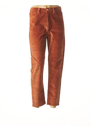 Pantalon 7/8 marron F.A.M. pour femme
