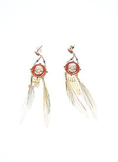 Boucles d'oreilles rose HIPANEMA pour femme