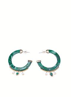 Boucles d'oreilles vert HIPANEMA pour femme
