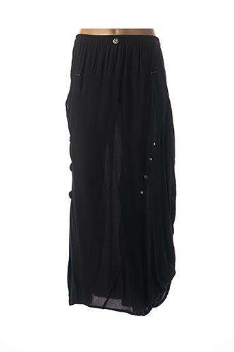 Jupe longue noir BATISTAME pour femme
