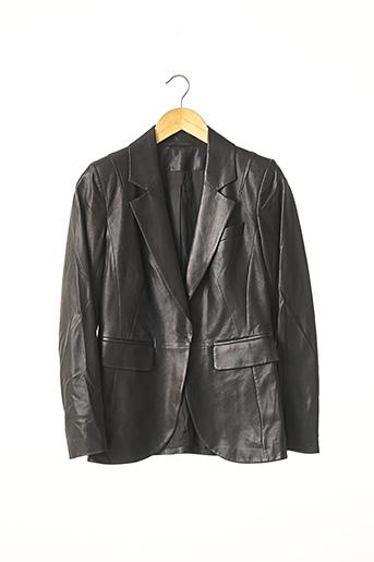 Veste en cuir noir PAULE KA pour femme